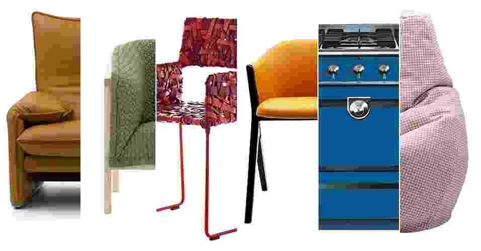 """CORES 2015: Entre as cores indicadas nas cartelas de tendências para 2015 da Lukscolor (www.lukscolor.com.br), Ibratin (www.ibratin.com.br), Cecal/ Eucatex (www.eucatex.com.br/pt/tintas/cecal) e Pantone (www.pantone.com), pinçamos e sugerimos cinco paletas de cores para a decoração de sua casa no próximo ano. Levamos em consideração também os caminhos apontados pelas feiras e mostras do setor e a consultoria de Míriam Gurgel, autora do livro """"Projetando Espaços"""" (Senac) - Divulgação/ Montagem UOL"""