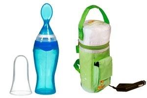 montagem para destacar álbum de Gravidez e Filhos com produtos inovadores para cuidar do bebê