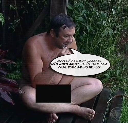 """Felipeh Campos toma banho nu em """"A Fazenda 7"""""""
