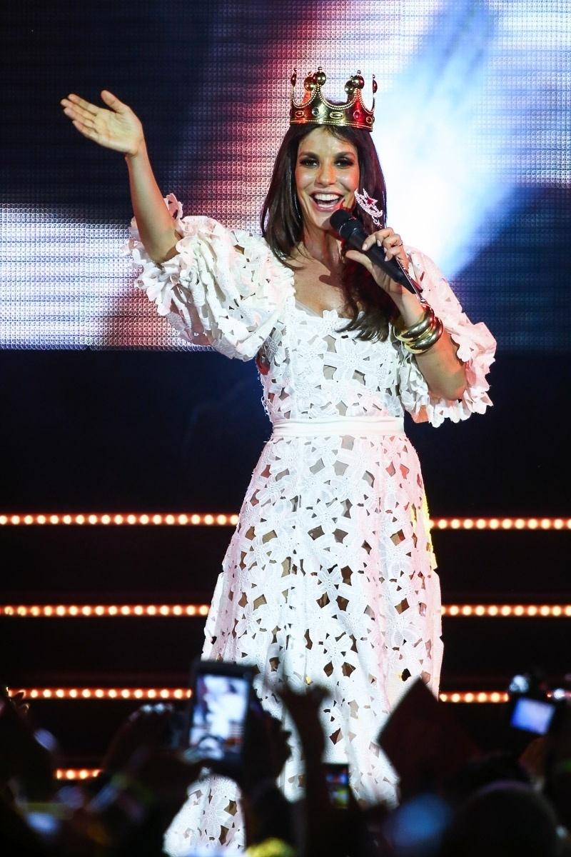 26.out.2014 - Ivete Sangalo se apresentou para uma plateia de 8 mil pessoas em São Paulo, no Espaço das Américas, na Barra Funda