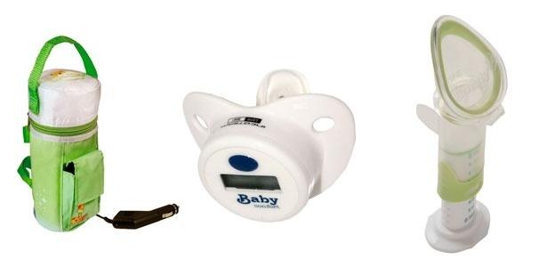 montagem para destacar álbum de Gravidez e Filhos com produtos que facilitam os cuidados com o bebê