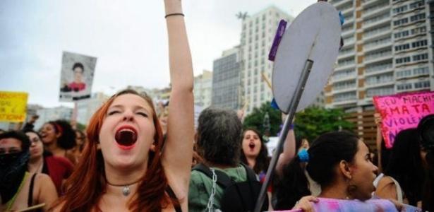 Mulheres protestam por direitos no Rio de Janeiro - Agência Brasil