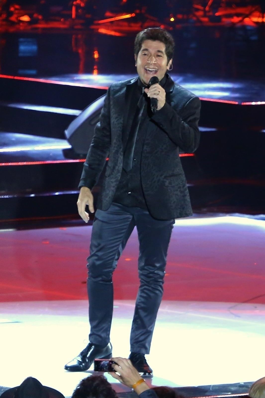 28.out.2014 - Daniel canta na 21ª edição do Prêmio Multishow 2014 na Arena da Barra, zona oeste do Rio de Janeiro, na noite desta terça-feira.