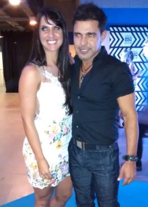Graciele Lacerda e Zezé di Camargo no Prêmio Multishow 2014