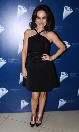 29.out.2014 - Gabriela Duarte prestigia o 36º Prêmio Profissionais do Ano da Globo, no HSBC Brasil, zona sul de São Paulo, na noite desta quarta-feira
