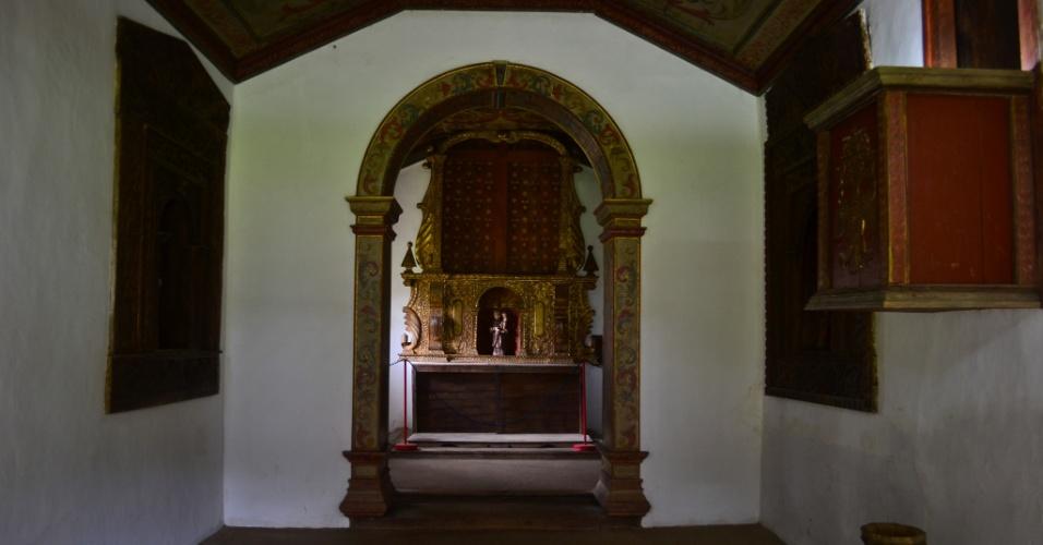 Interior da capela do Sítio de Santo Antônio