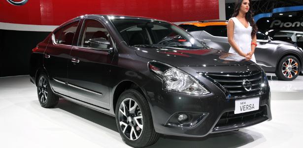 Nissan New Versa no Salão de São Paulo: carro de entrada terá motor tricilíndrico - Murilo Góes/UOL