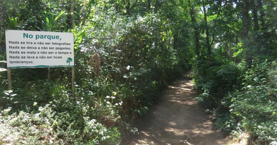 O parque Mata da Câmara é composto por vegetação da Mata Atlântica