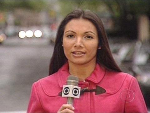 Patrícia Poeta como repórter da Globo