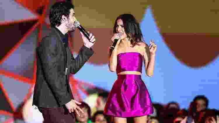Fiu e Manu Gavassi cantam juntos no Meus Prêmios Nick, em 2014 - Manuela Scarpa/Photo Rio News - Manuela Scarpa/Photo Rio News