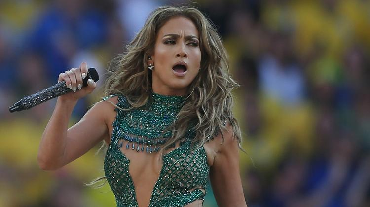 Jennifer Lopez at the fifa World Cup in Brazil in 2014 - AFP