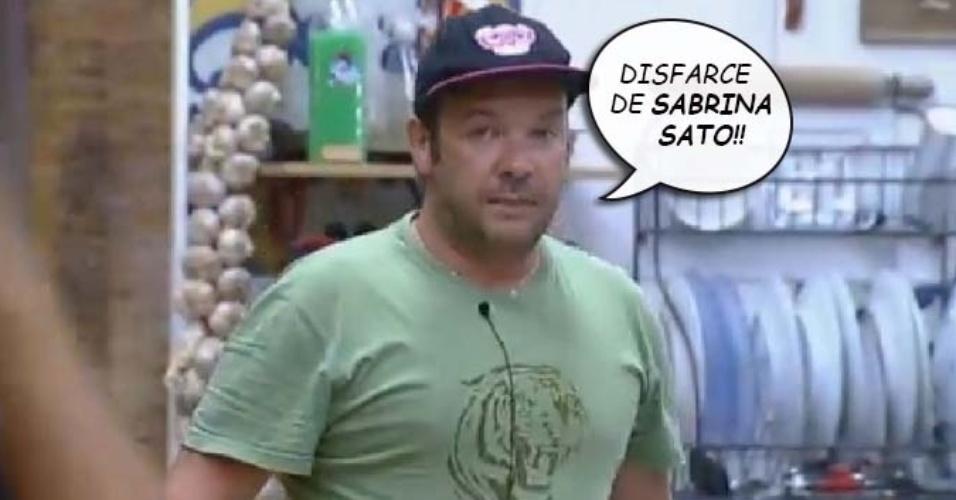 """Felipeh Campos diz que Babi Rossi é """"disfarce de Sabrina Sato"""" em """"A Fazenda 7"""""""