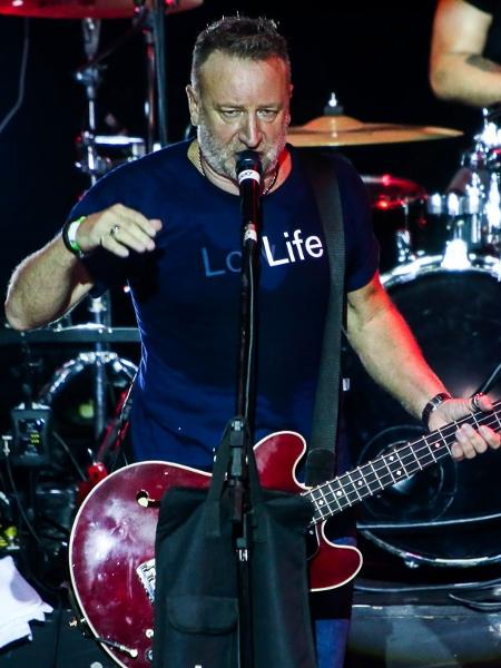 O baixista Peter Hook se apresenta em São Paulo tocando repertório do Joy Division e New Order - Manuela Scarpa/Photo Rio News