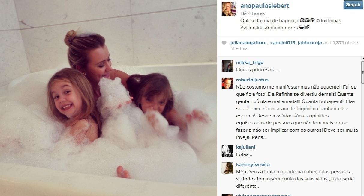 Roberto Justus se irrita e defende namorada no Instagram: