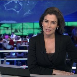 """Renata Vasconcellos estreou no """"Jornal Nacional"""" na segunda"""