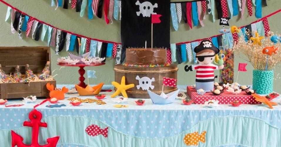 baby bum mini mimo festas | Kit para aluguel de decoração de festa com tema pirata, da Mini-Mimo Festas. R$ 540. O produto está na Baby Bum, feira que acontece em São Paulo