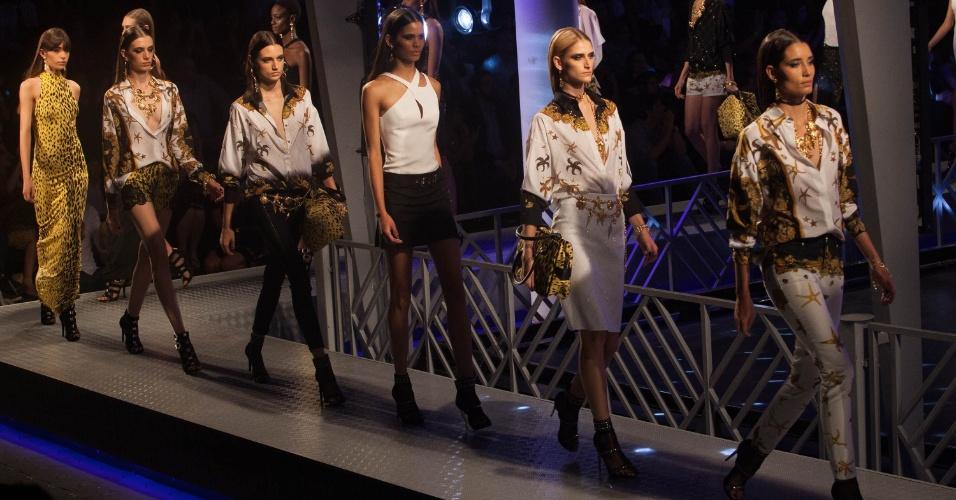 6.nov.2014 - SPFW; Inverno 2015; Brazil Fashion Versace Riachuelo; desfile