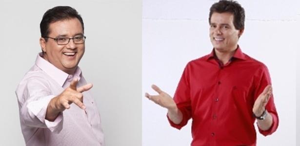 Geraldo Luís e Celso Portiolli: disputa de audiência e de profissionais - Divulgação