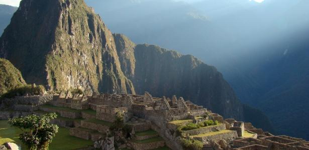 Machu Picchu, no Peru, está a mais de 2,3 mil metros de altitude