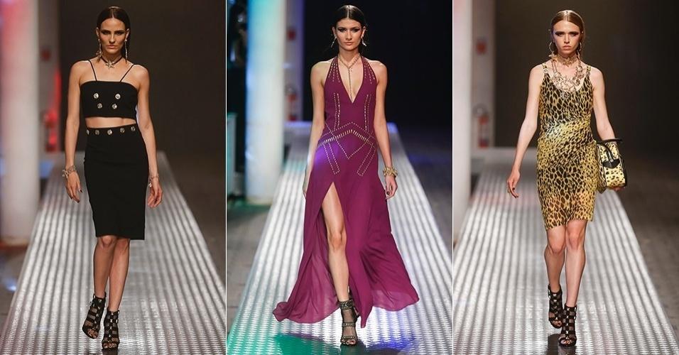 6.nov.2014 - Versace para Riachuelo SPFW Inverno 2015