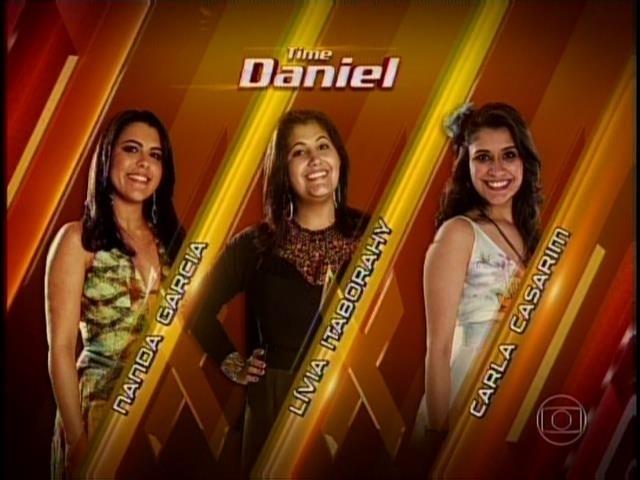 6.nov.2014- Carla Casarim, Lívia Itaborahy e Nanda Garcia se enfrentam na batalha no time de Daniel.