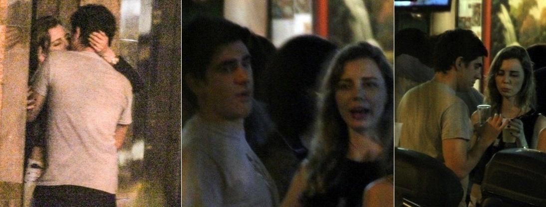 Casado com Dani Calabresa, Marcelo Adnet é flagrado beijando outra