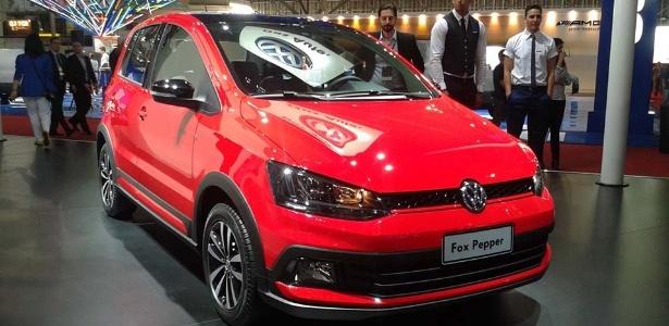 Volkswagen Fox Pepper no Salão de São Paulo 2014: marca diz que versão segue em estágio conceitual; lojistas já dão até preço e prazo para ter produto em estoque - Leonardo Felix/UOL