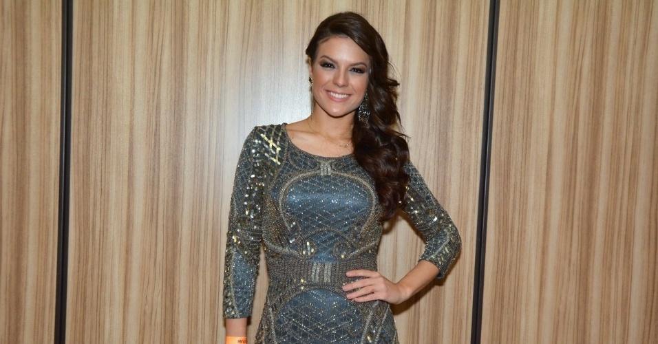 11.nov.2014 - A Miss Brasil Melissa Gurgel marca presença na 13ª edição do Prêmio Jovem Brasileiro no Palácio das Convenções do Anhembi, na zona norte de São Paulo, na noite desta terça-feira