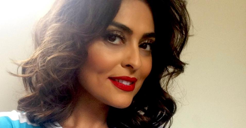 Juliana Paes apoia campanha de combate ao câncer da pele