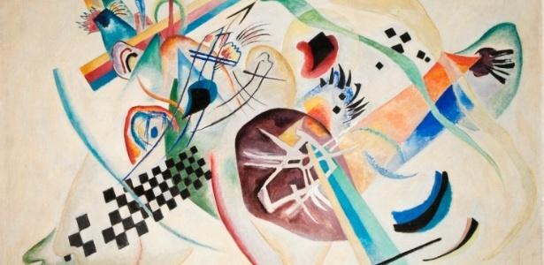"""Obra """"No Branco"""", de Vassily Kandinsky - Divulgação"""