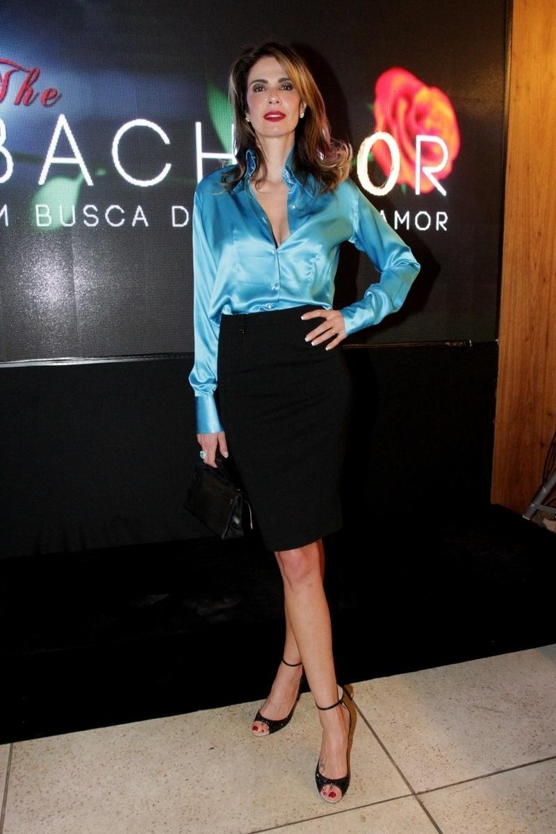 12.nov.2014 - Luciana Gimenez vai ao lançamento da nova atração da RedeTV!, o reality