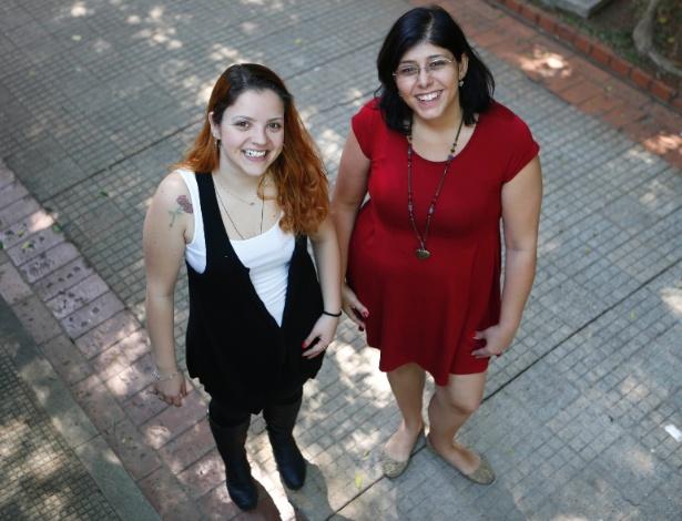 Alessandra Gaspari (à esq.) e Carolina Capuano pariciparam de um coaching sentimental - Junior Lago/UOL
