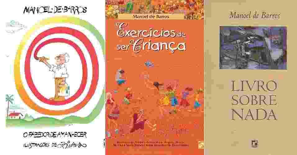 Capas do livro de Manoel de Barros - Divulgação