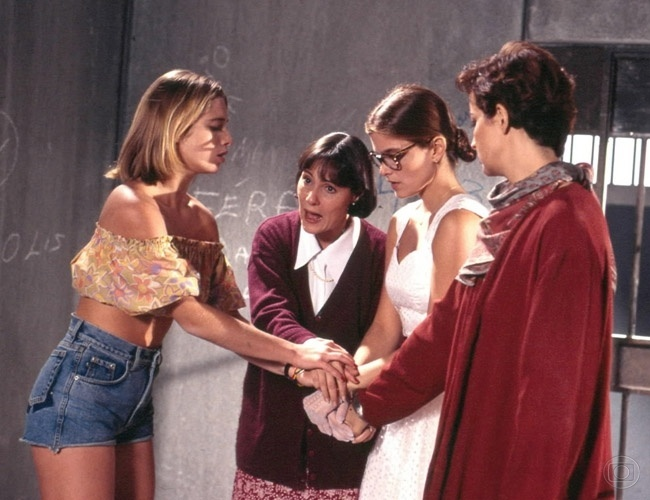 """Dois anos depois, ela interpretou sua primeira protagonista em """"Quatro por Quatro"""" (1994). Na trama, ela vivia Abigail, uma das quatro personagens principais da história"""