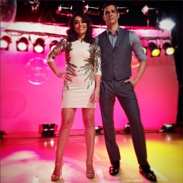 Juliana Paes e Márcio Garcia, apresentadores do