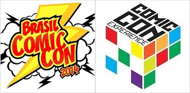 Logotipos das duas Comic Cons realizadas em São Paulo por empresas diferentes - Montagem UOL/Reprodução