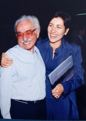 Manoel de Barros e Cássia Kis Magro - Arquivo Pessoal