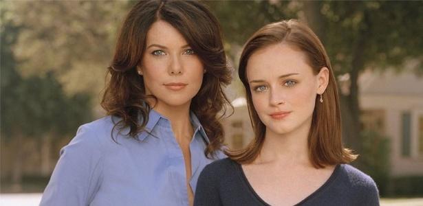"""Protagonistas da série """"Gilmore Girls"""", Lorelai (Lauren Graham) e Rory (Alexis Bledel) - Divulgação"""