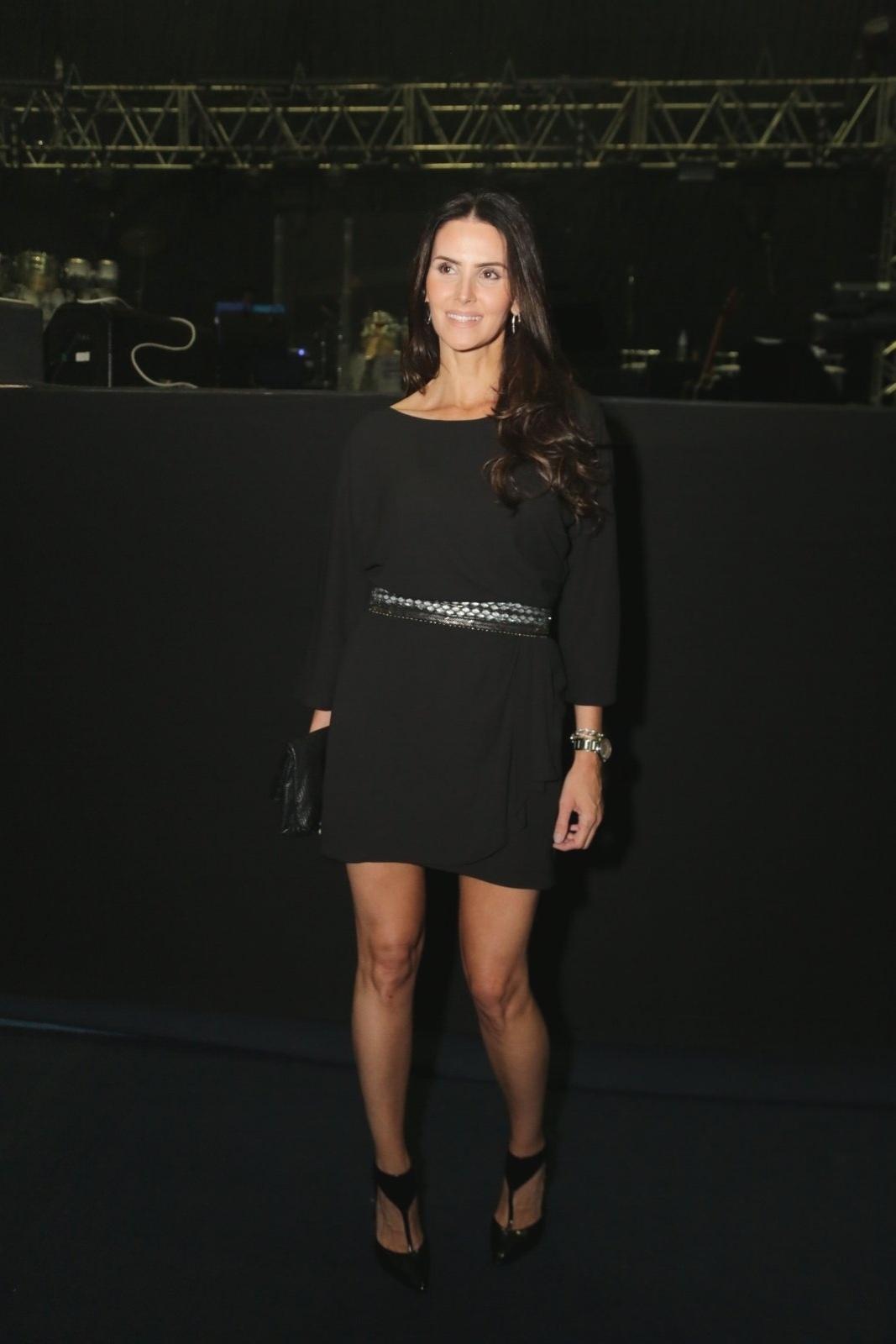 14.nov.2014 - Lisandra Souto prestigia o show de Roberto Carlos no Maracanãzinho, zona norte do Rio de Janeiro, na noite desta sexta-feira