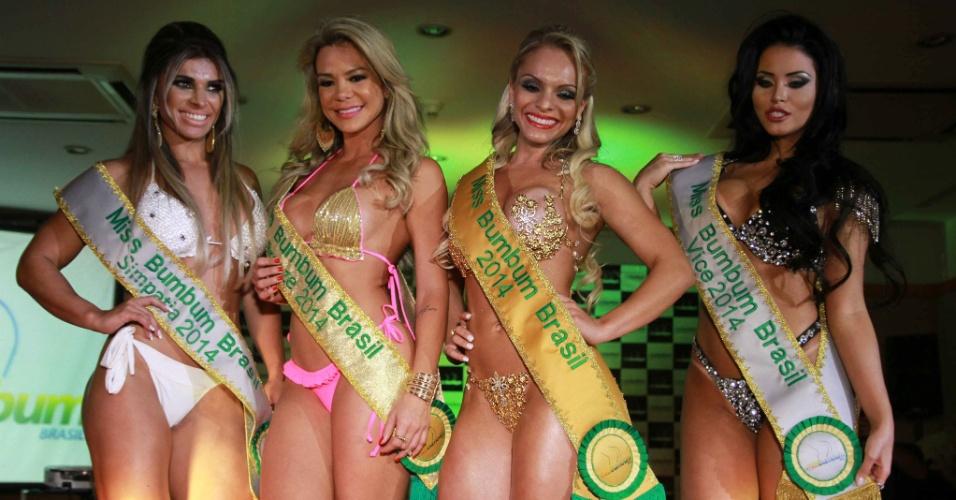 17.nov.2014 - Indianara Carvalho vence o Miss Bumbum 2014 em um hotel no centro de São Paulo, nesta segunda-feira