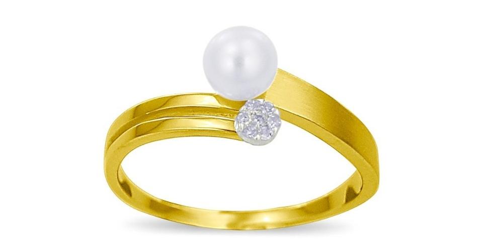 Casamento - Aneis de noivado com pérolas - 10