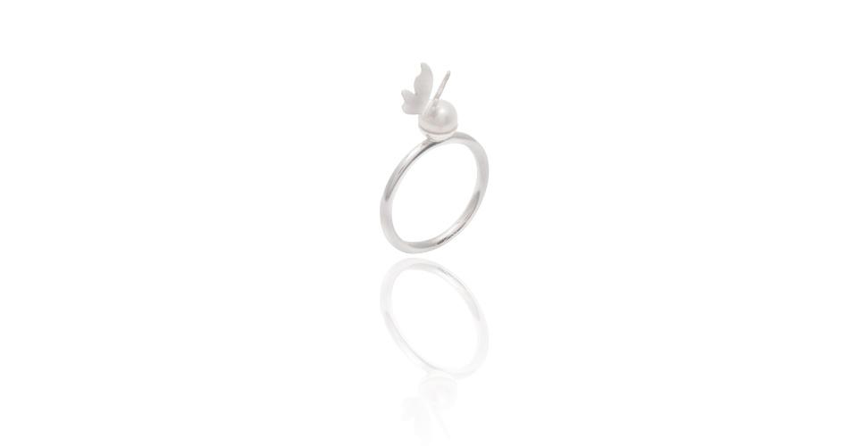 Casamento - Aneis de noivado com pérolas - 3