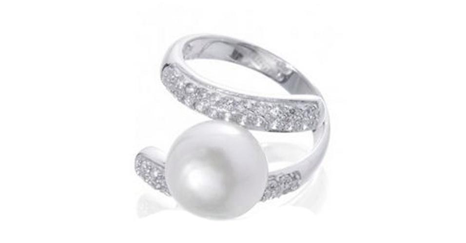 Casamento - Aneis de noivado com pérolas - 2