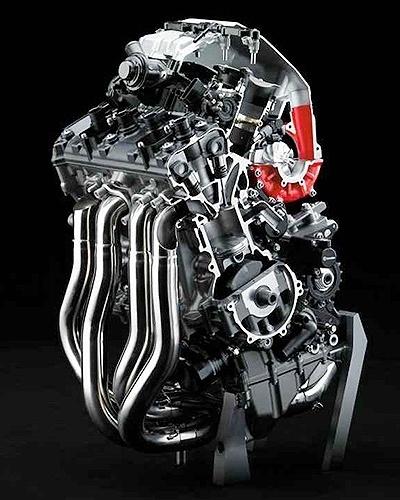 Motor da Kawasaki Ninja H2R