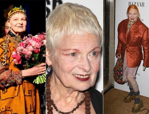 Vivienne Westwood tem estilo pessoal excêntrico - Getty Images