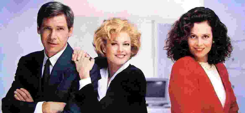 """1988: """"Uma Secretária de Futuro"""", com Melanie Griffith, Harrison Ford e Sigourney Weaver - Reprodução"""
