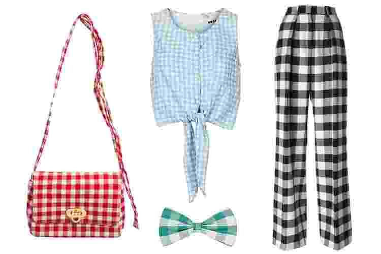 O vichy é conhecido como o xadrez das toalhas de piquenique. Esta padronagem foi popular nos anos 50 e é associada a peças românticas, acinturadas e com toque vintage. A seguir, veja diferentes opções de peças e cores - Divulgação