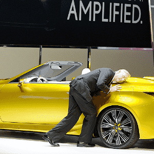 Lexus LF-C2 Concept - Robyn Beck/AFP