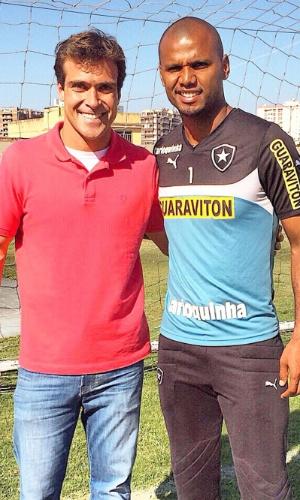 Thiago Asmar entrevista o goleiro Jefferson, do Botafogo, para o