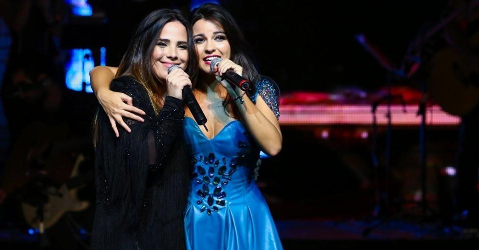 23.nov.2014 - Wanessa faz participação especial em show da ex-integrante do grupo RBD Maite Perroni